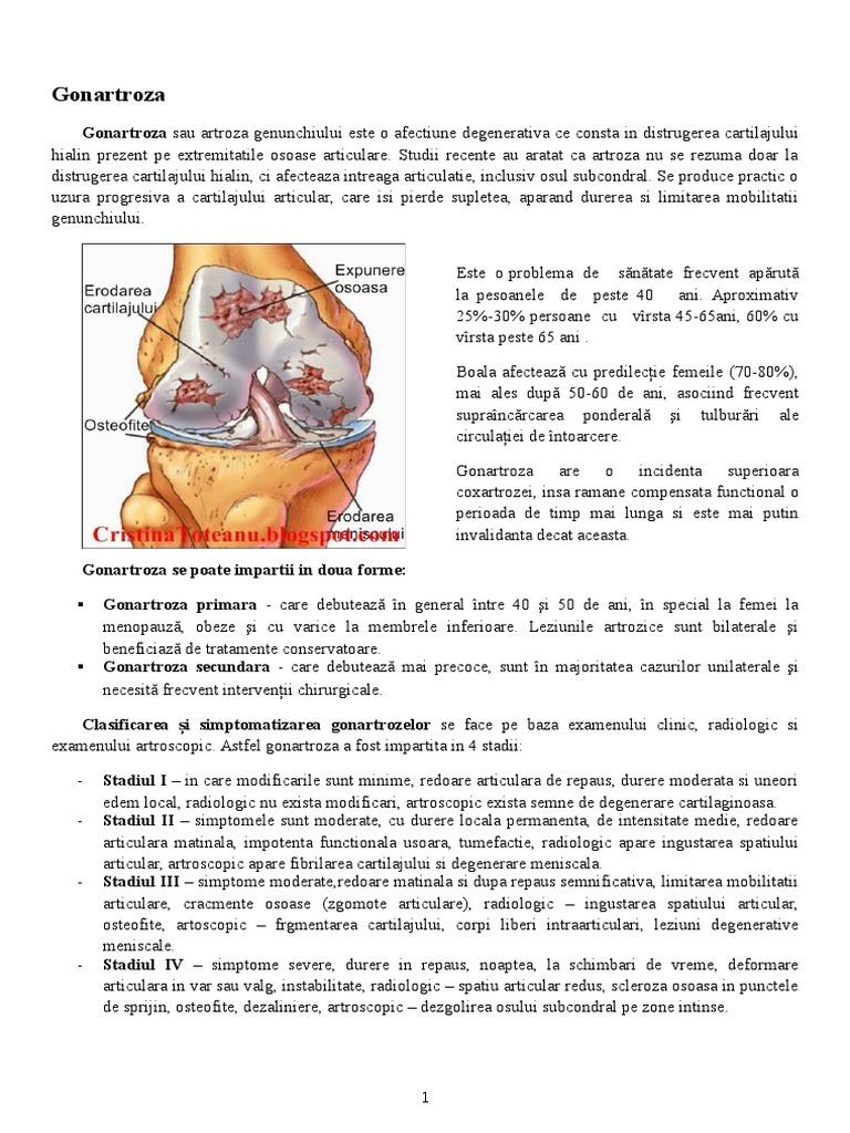 artroza genunchiului cu 3 grade decât a trata