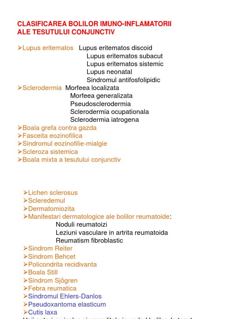 boli de țesut conjunctiv difuz sistemic