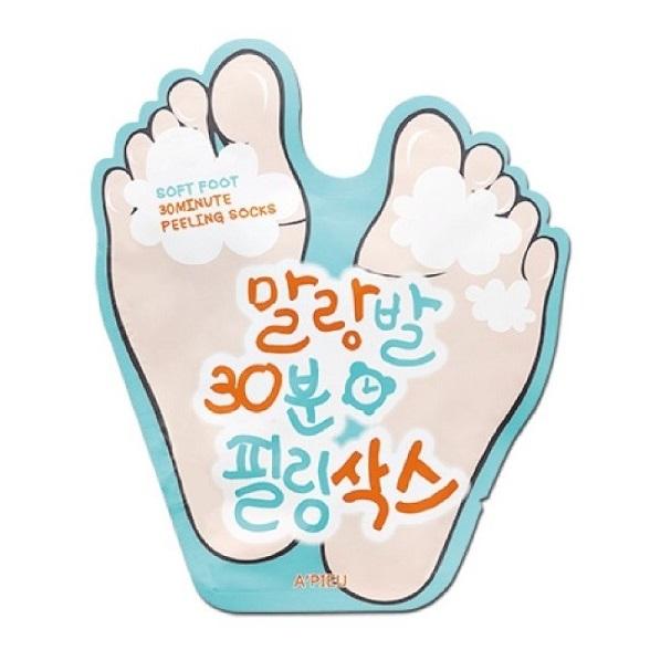 Masca pentru picioare cu efect de peeling, 40 ml, Apieu : Farmacia Tei